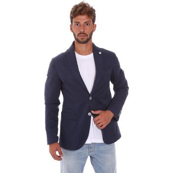 Abbigliamento Uomo Giacche / Blazer Sei3sei PZG8 7149 Blu