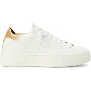 Scarpe Donna Sneakers basse P448 Thea Gold Glitter Bianco Bianco