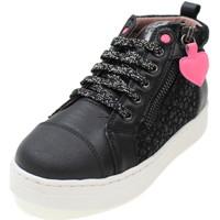 Scarpe Bambina Sneakers alte Garvalin 211524 NERO