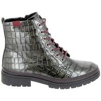 Scarpe Donna Stivaletti Jana Boots 25222 Noir Croco Nero