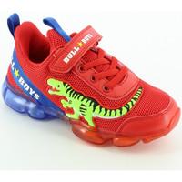 Scarpe Bambino Sneakers basse Bull Boys 2130 sneaker bassa lights Rosso