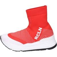 Scarpe Donna Sneakers alte Rucoline BH885 Rosso