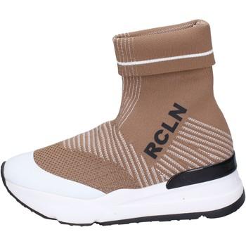 Scarpe Donna Sneakers alte Rucoline BH886 Beige