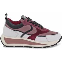Scarpe Donna Sneakers basse Voile Blanche Sneakers  CLUB103 in pelle e nylon bianco e rosa bianco,rosa