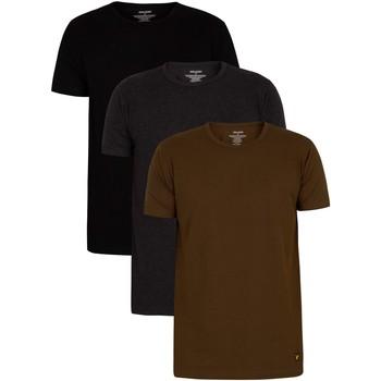 Abbigliamento Uomo T-shirt maniche corte Lyle & Scott Maglietta Lounge Maxwell da 3 pezzi multicolore