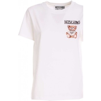 Abbigliamento Donna T-shirt maniche corte Moschino T-SHIRT DONNA  07015440 V1001 BIANCO