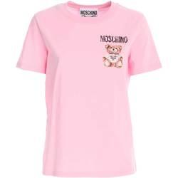 Abbigliamento Donna T-shirt maniche corte Moschino T-SHIRT DONNA  07015440 V1224 ROSA