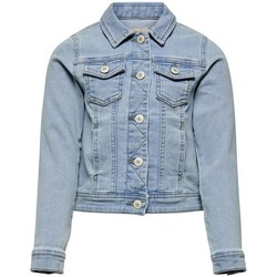 Abbigliamento Bambina Giacche Only 15202794 KONSARA-LIGHT BLUE DENIM blu