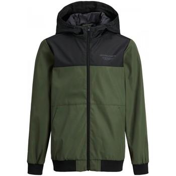 Abbigliamento Bambino Giacche Jack & Jones 12182304 SEAM-FOREST NIGHT verde