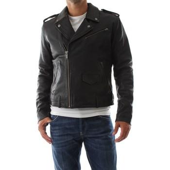 Abbigliamento Uomo Giacca in cuoio / simil cuoio Bomboogie JMECTO P LGW-90 BLACK nero