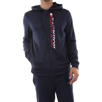 Abbigliamento Uomo Felpe Tommy Hilfiger S20S200066 ZIP TROGHOUT HOODY VE-401 SPORT NAVY blu
