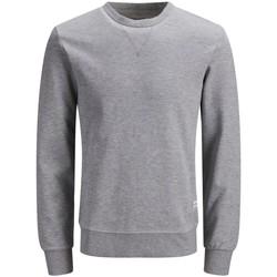 Abbigliamento Uomo Felpe Jack&Jones Essential 12181903 CREW NECK-LIGHT GREY MELANGE grigio