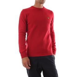 Abbigliamento Uomo Maglioni Lyle & Scott KN921VF CREW NECK LAMBSWOOL-W115 CHILI PEPPER rosso