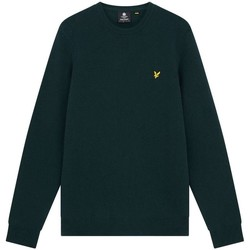Abbigliamento Uomo Maglioni Lyle & Scott KN921VF CREW NECK LAMBSWOOL-W50 DAR GREEN MARL verde
