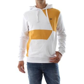 Abbigliamento Uomo Felpe Lyle & Scott ML1503V CONTRAST CUT HOODIE-WHITE/SUNFLOWER W452 bianco
