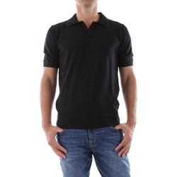 Abbigliamento Uomo Polo maniche corte Bomboogie MM7014 T KTP2-90 BLACK nero