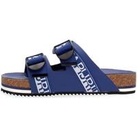 Scarpe Uomo Sandali Napapijri Footwear NA4ETH LEATHER SANDAL-176 BLUE MARINE blu