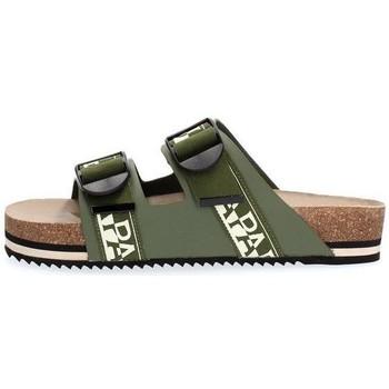 Scarpe Uomo Sandali Napapijri Footwear NA4ETH LEATHER SANDAL-GD6 GREEN verde