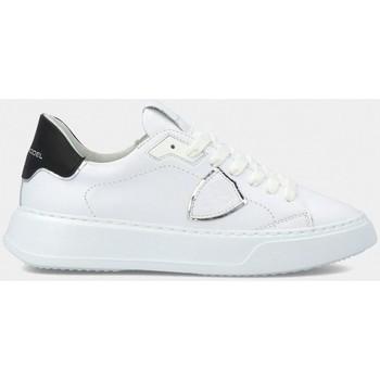 Scarpe Donna Sneakers basse Philippe Model BTLD V010 TEMPLE-VEAU BLANC NOIR bianco