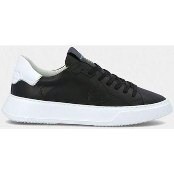 Scarpe Uomo Sneakers basse Philippe Model BTLU V002 TEMPLE-VEAU BLANC NOIR nero