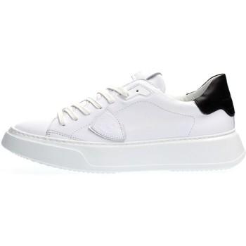 Scarpe Uomo Sneakers basse Philippe Model BTLU V007 TEMPLE-VEAU BLANC NOIR bianco