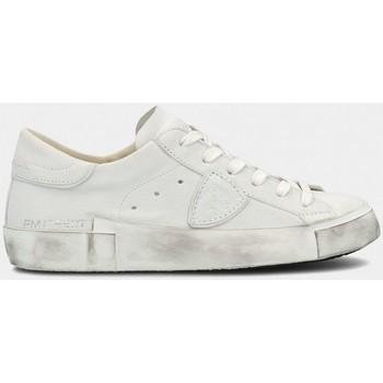Scarpe Uomo Sneakers basse Philippe Model PRLU 1012 PARIX X-BASIC BLANC bianco