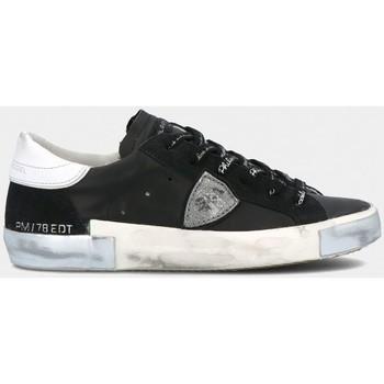 Scarpe Uomo Sneakers basse Philippe Model PRLU MA01 PARIS X-FOXY LAMINE - NOIR ARGENT nero