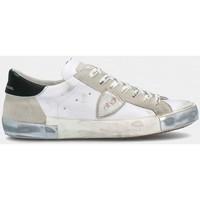 Scarpe Uomo Sneakers basse Philippe Model PRLU MA02 PARIS X-FOXY LAMINE BLANC ARGENT bianco