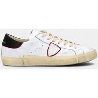 Scarpe Uomo Sneakers basse Philippe Model PRLU V024 PARIS X-VEAU BLANC-ROUGE bianco