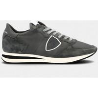 Scarpe Uomo Sneakers basse Philippe Model TZLU 6003 TROPEZ-CHARBON grigio