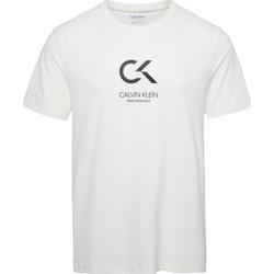 Abbigliamento Uomo T-shirt & Polo Calvin Klein Jeans 00GMS9K 183 SHORT SLEEVE TEE-100 BRIGHT WHITE/CK BLACK bianco