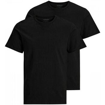 Abbigliamento Uomo T-shirt & Polo Jack&Jones Essential 12133913 2 PACK CREW NECK TEE-BLACK nero