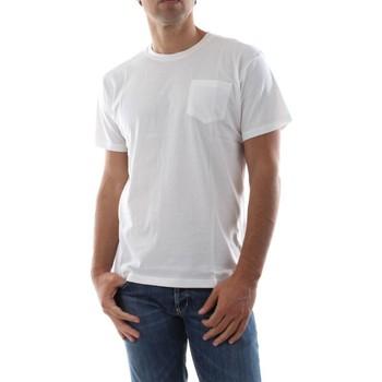 Abbigliamento Uomo T-shirt & Polo Bomboogie TM6344 T JORG-01 OFF WHITE bianco