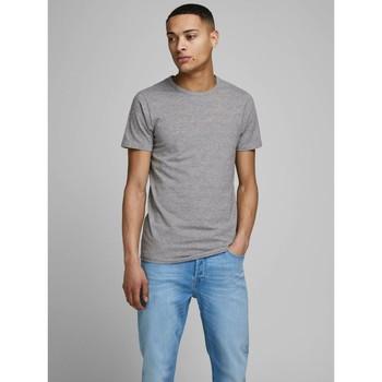 Abbigliamento Uomo T-shirt maniche corte Jack&Jones Essential 12058529 BASIC TEE-LIGHT GREY grigio