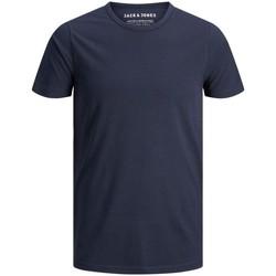 Abbigliamento Uomo T-shirt maniche corte Jack&Jones Essential 12058529 BASIC TEE-NAVY BLUE blu