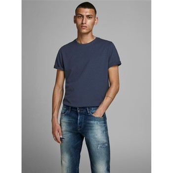 Abbigliamento Uomo T-shirt maniche corte Jack&Jones Essential 12156101 BASIC TEE-NAVY BLAZER blu