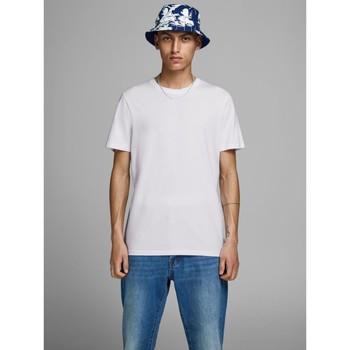 Abbigliamento Uomo T-shirt maniche corte Jack&Jones Essential 12156101 BASIC TEE-WHITE bianco