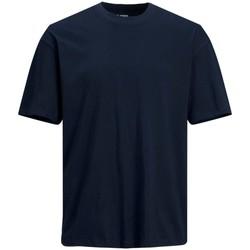 Abbigliamento Uomo T-shirt maniche corte Jack&Jones Essential 12185628 BRINK TEE-NAVY BLAZER blu