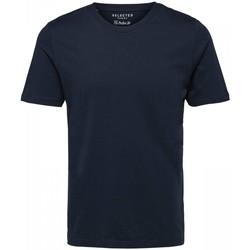 Abbigliamento Uomo T-shirt maniche corte Selected 16057141 THEPERFECT-DARK SAPPHIRE blu