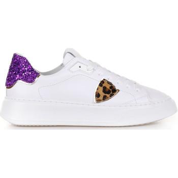 Scarpe Donna Sneakers basse Philippe Model Sneaker Temple Veau Glitter