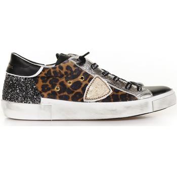 Scarpe Donna Sneakers basse Philippe Model Sneaker Prsx Leo Mixage Nero