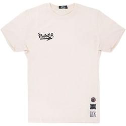 Abbigliamento Uomo T-shirt maniche corte Disclaimer Back Graphic T-Shirt Bianco Bianco