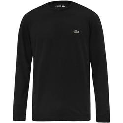 Abbigliamento Uomo T-shirts a maniche lunghe Lacoste TH0123031 Nero