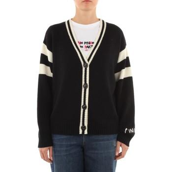 Abbigliamento Donna Gilet / Cardigan Pinko 1G16X2-Y7J5 Cardigan Donna Nero/bianco/rosso Nero/bianco/rosso