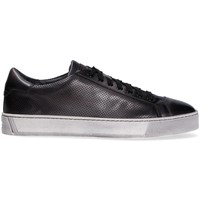 Scarpe Uomo Sneakers basse Santoni Sneaker  in pelle GRIGIO