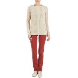 Abbigliamento Donna Pantaloni 5 tasche Kulte PANTALON PLANCHER 101819 ROUGE Rosso