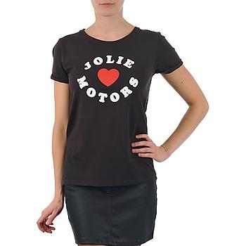 T-shirt Kulte  LOUISA JOLIEMOTOR 101954 NOIR