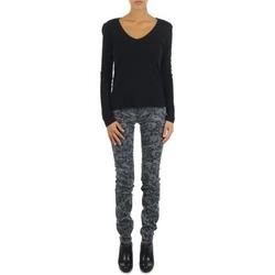 Abbigliamento Donna Jeans slim Gas TASCHE SUMATRA HIGH BLE BLACK Grigio