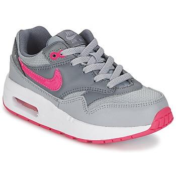 Scarpe Bambina Sneakers basse Nike AIR MAX 1 CADET Grigio / Rosa