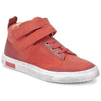 Scarpe Bambina Sneakers alte Pom d'Api BACK BASKET Rosso